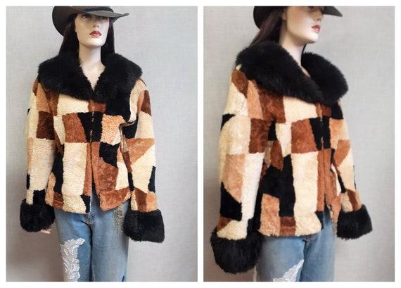 RARE 60's Sheepskin Penny Lane Jacket - 70's Hippi