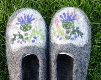 Handmade Felted Wool Slippers, Made in Edinburgh, SCOTLAND