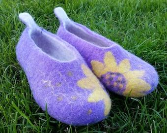 Handmade Felted Wool Slippers, made in Edinburgh, SCOTLAND