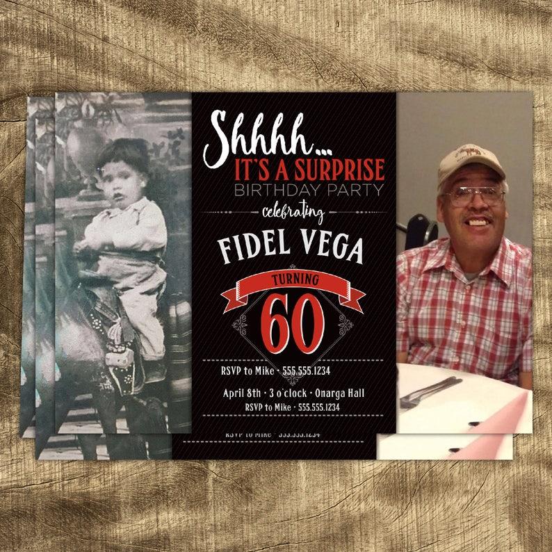 60th Birthday Invitation Invitations For Men