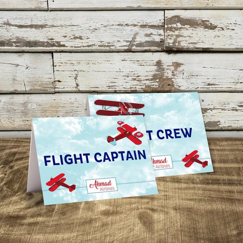 Avion Decor Danniversaire Carte De Visite Cartes Place