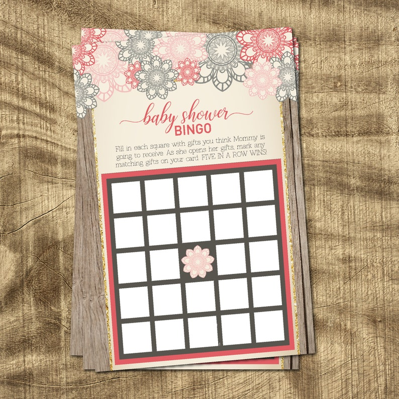 Who Said it Baby Shower Supplies Guess the Price Floral Baby Shower Games Baby Girl Shower Game Coed Shower Games Baby Shower Bingo
