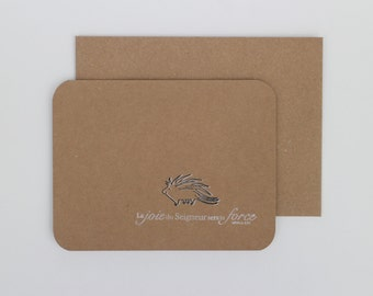 2014 Bible verse card - «Happy hedgehog» Nehemiah 8: 10