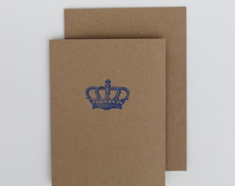 2014 Bible verse card -«Royal Crown» Psalms 34 : 4