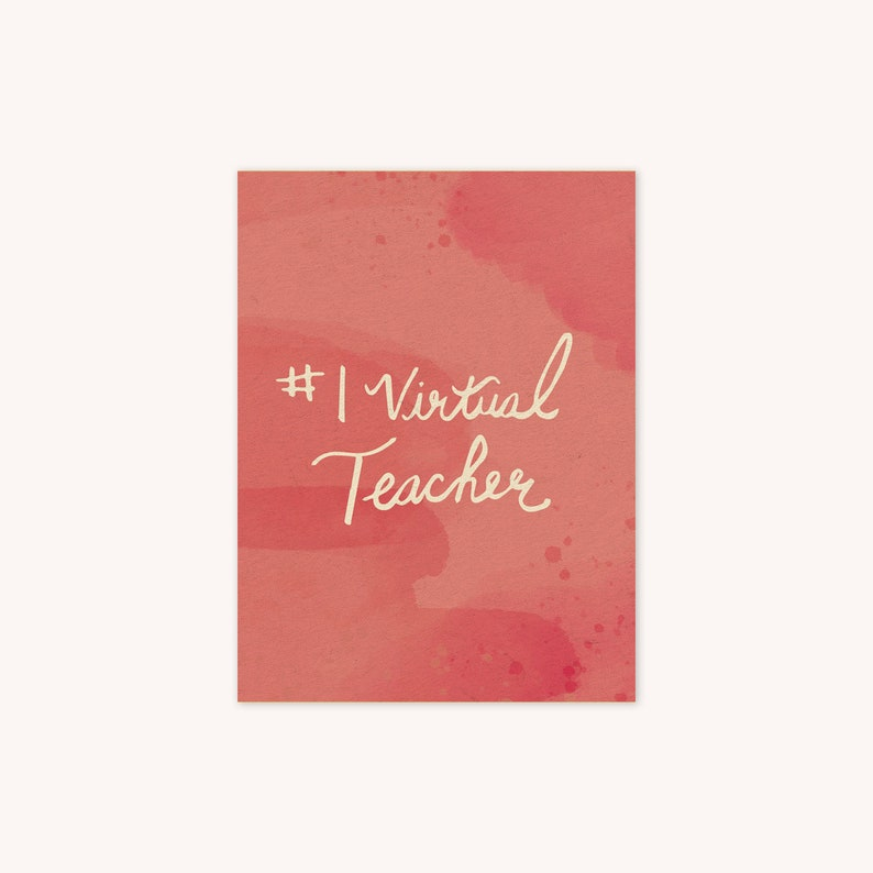 number 1 virtual teacher appreciation thank you greeting