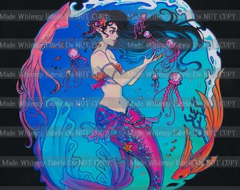 44672cfbd495 Magical Mermaid Nylon Swim Panel by Made Whimsy