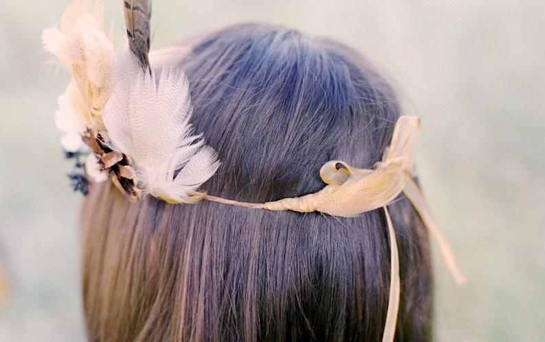 Indian Summer Bridal Wreath Boho Hippie Rustic Country Woodland Wedding Headpiece Crown