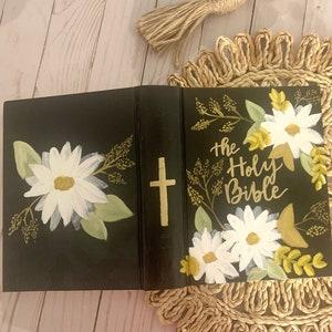 Hand Painted ESV Single Column Journaling Bible Andi Design