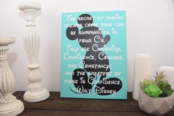 Walt Disney Quote Mickey Mouse Sign Inspirational Sign Etsy