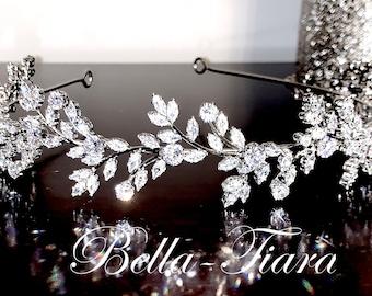 swarovski crystal headband, crystal hair vine, crystal bridal headband, wedding headpiece, bridal headpiece,  wedding headband