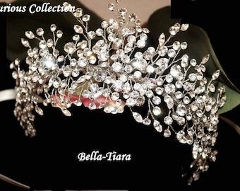 wedding crystal headpiece, crystal wedding hair vine, crystal hair vine, bridal crystal vine