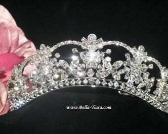 crystal wedding tiara, bridal crown tiara, bridal tiara, wedding tiara, crystal crown tiara, crown for bride, rhinestone crown tiara