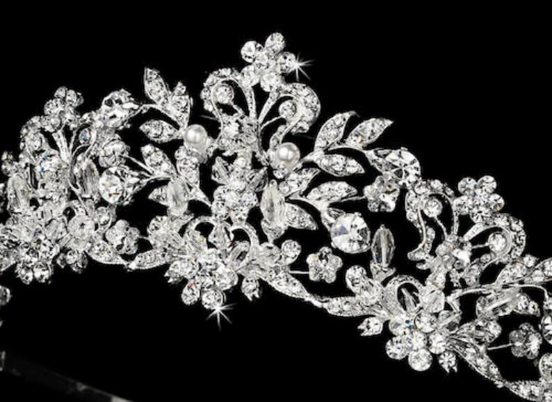 gold crystal wedding crown Gold tiara gold wedding tiara Gold Crystal wedding tiara gold bridal tiara gold crystal crown