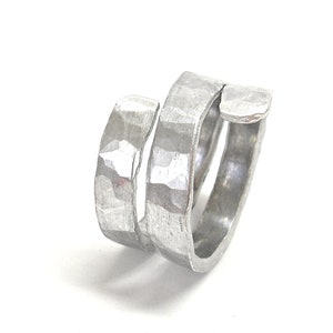Aluminum ring Wide band ring Womens statement ring Aluminium ring Contemporary jewelry Aluminium jewelry