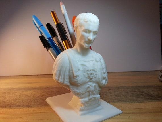 Julius Caesar Pencil Holder Inspiration Julius Caesar Bust Desktop Pen Holder Statue 60d Printed Etsy