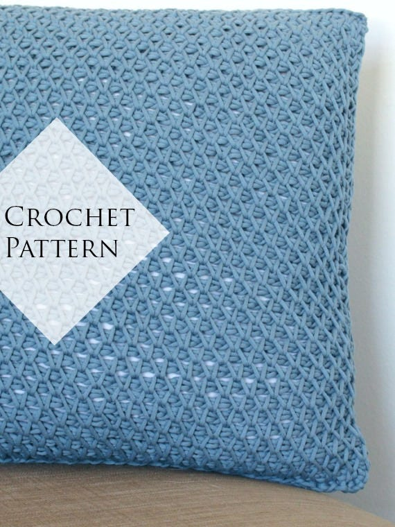 Cottage Throw Pillow Pattern Crochet Pdf Pattern Tutorial Etsy