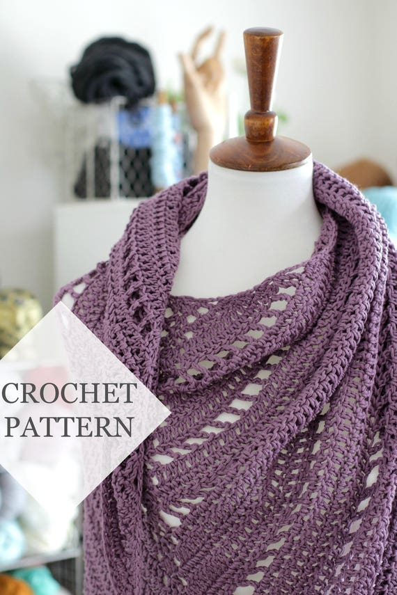 Free Yourself Crochet Shawl Pattern // Crochet PDF Pattern