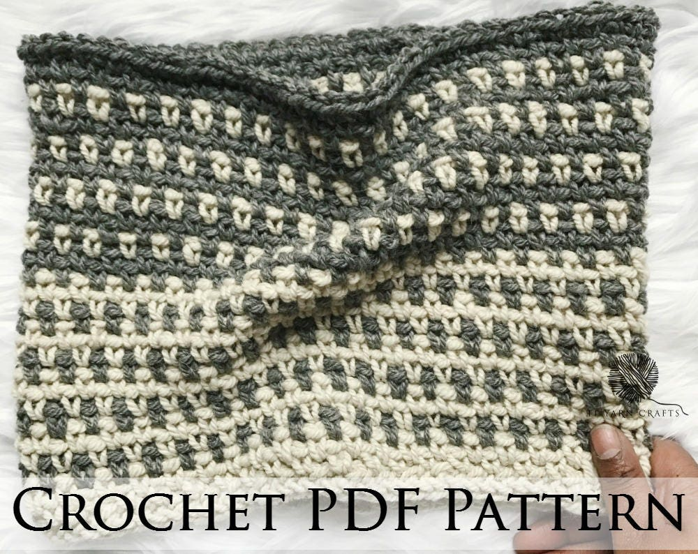 Emilia Cowl // Crochet PDF Pattern Tutorial Worsted Moss Linen