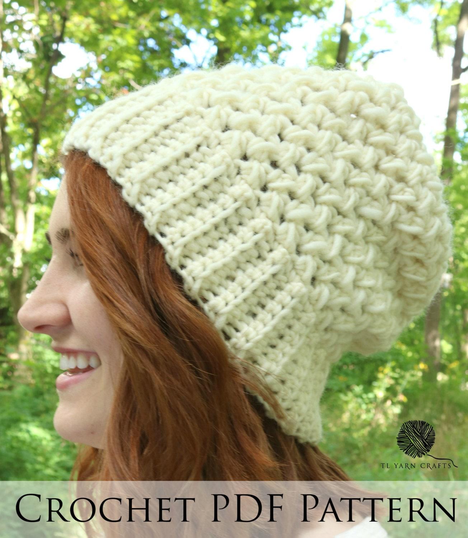 Hedwig Beanie Crochet Pdf Pattern Easy Beanie Pattern Etsy