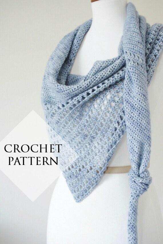 Coles River Kerchief Shawl Pattern Crochet Pdf Pattern Etsy