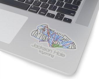 Jackson Hole Wyoming Mountain Camping Skiing Destination Snowboarding Sticker Vinyl Decal Wall Laptop Window Car Bumper Sticker 5
