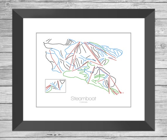 Steamboat Colorado, Steamboat Ski Art, Steamboat Springs Trail Map, Resort  Mountain, Steamboat Co, Springs Colorado, Snowboard, Gift