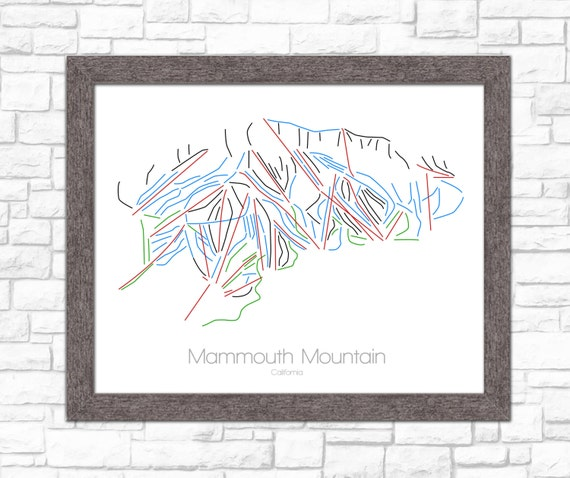 Mammoth Mountain California Map.Mammoth California Mammoth Mountain Mammoth Trail Map Etsy