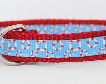 "Life Preserver 5/8"" Dog Collar"