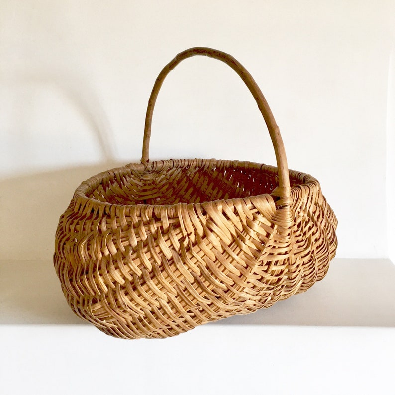 two home decor buttocks style baskets one small.htm french antique basket handwoven french vintage wicker basket etsy  handwoven french vintage wicker basket
