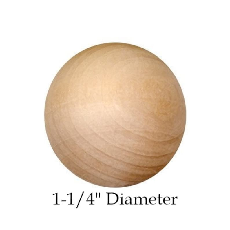 20 Pack Natural 1-14 Round Unfinished Wooden BallsSpheres 31.75 mm