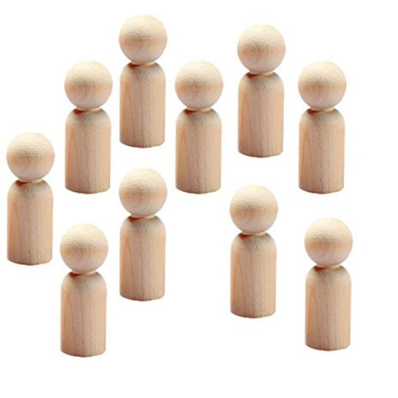 30 to 75 Natural Dad Unfinished Wooden Peg Dolls Fast Shipping 2-38 Inch Cake Toppers Little People Father Tall Male 6 cm