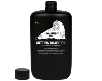 Cutting Board Oil | 8oz Bottle | Food Safe and FDA Approved | Butcher Block Oil | Serving Board Oil | Walrus Oil | Early American Shop