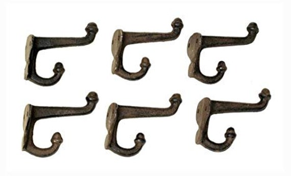 "PACK OF 5 CAST IRON ACORN COAT /& HAT HOOKS ANTIQUE IRON 7/"" Reproduction Hook"