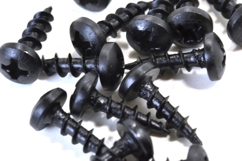 6 x 58 Small Black Screws Jewelry Box Hardware Hinge Screws 100 Pieces Small Box Screws Cabinet Hardware Pan Head Screws 3