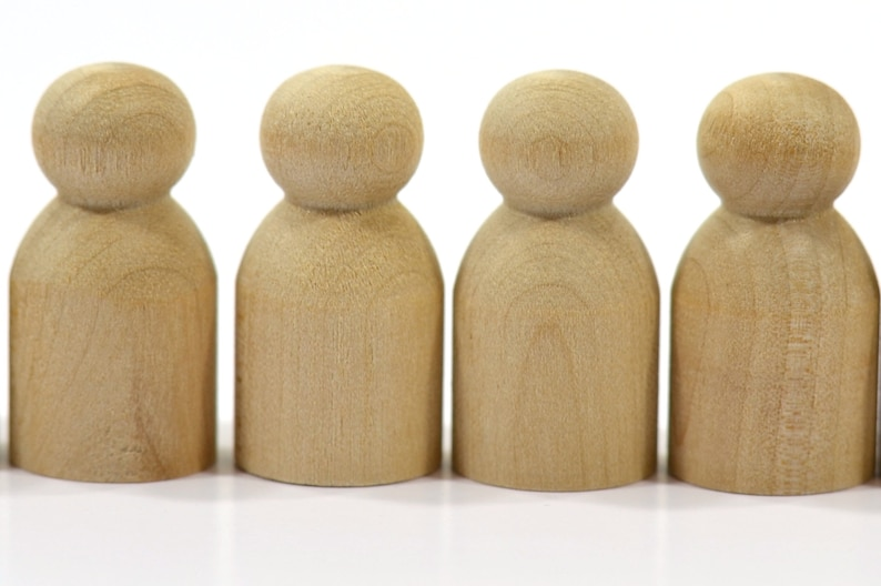 1-18 Tall Baby Peg Dolls-Solid Natural Hardwood Quality Turnings-Ready for Paint or Stain-Free Shipping 25 Pack of Wooden Baby Peg People