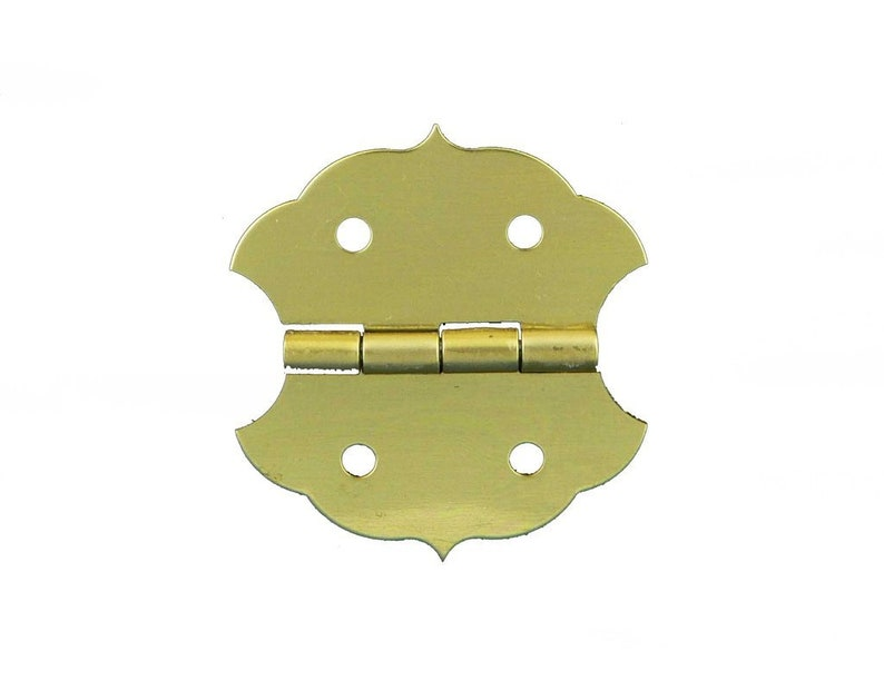 Small Hinges Brass Hardware Jewelry Hinges Small Box Hardware Choice of 75 or 100 Brass Plated Butterfly Hinges with Matching Screws