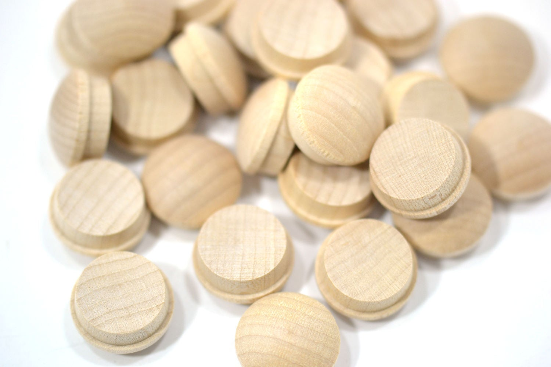 "1//2/"" Wood Furniture Plugs Maple MUSHROOM HEAD Furniture Buttons Lots of 12-100"
