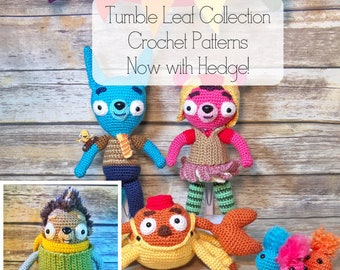 CROCHET PATTERN - Tumble Leaf Toys Collection Crochet Patterns - Tumble Leaf Toy Patterns - Digital Download