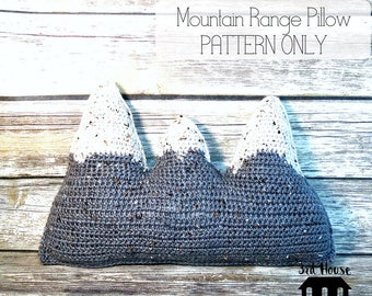 Mountain Pillow Pattern - Crochet Mountain Pillow Pattern - Mountain Nursery Decor - Mountain Plush - Pattern Only