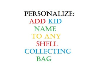 PERSONALIZATION for SHELL BAGS