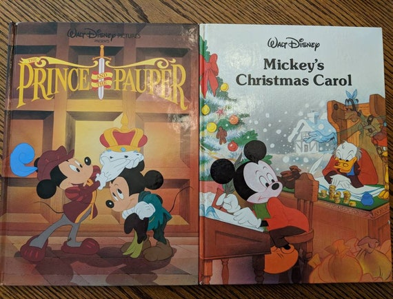 Mickey Mouse A Christmas Carol.Disney S Christmas Carol And Prince And The Pauper Mickey Mouse Gallery Books Twin Books 1988 1990
