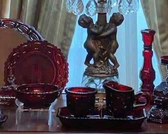 INVENTORY UPDATE Avon 1876 Cape Cod Ruby Red Glassware