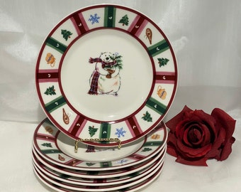 Pfaltzgraff Snow Bear Accent 8-Inch Salad Plate