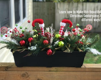 christmas centerpiece diy centerpiece centerpiece tutorial winter centerpiece tutorial winter centerpiece diy how to elf