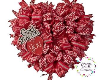 Valentines Day Door Wreath Valentines Day Wreath Valentines Etsy