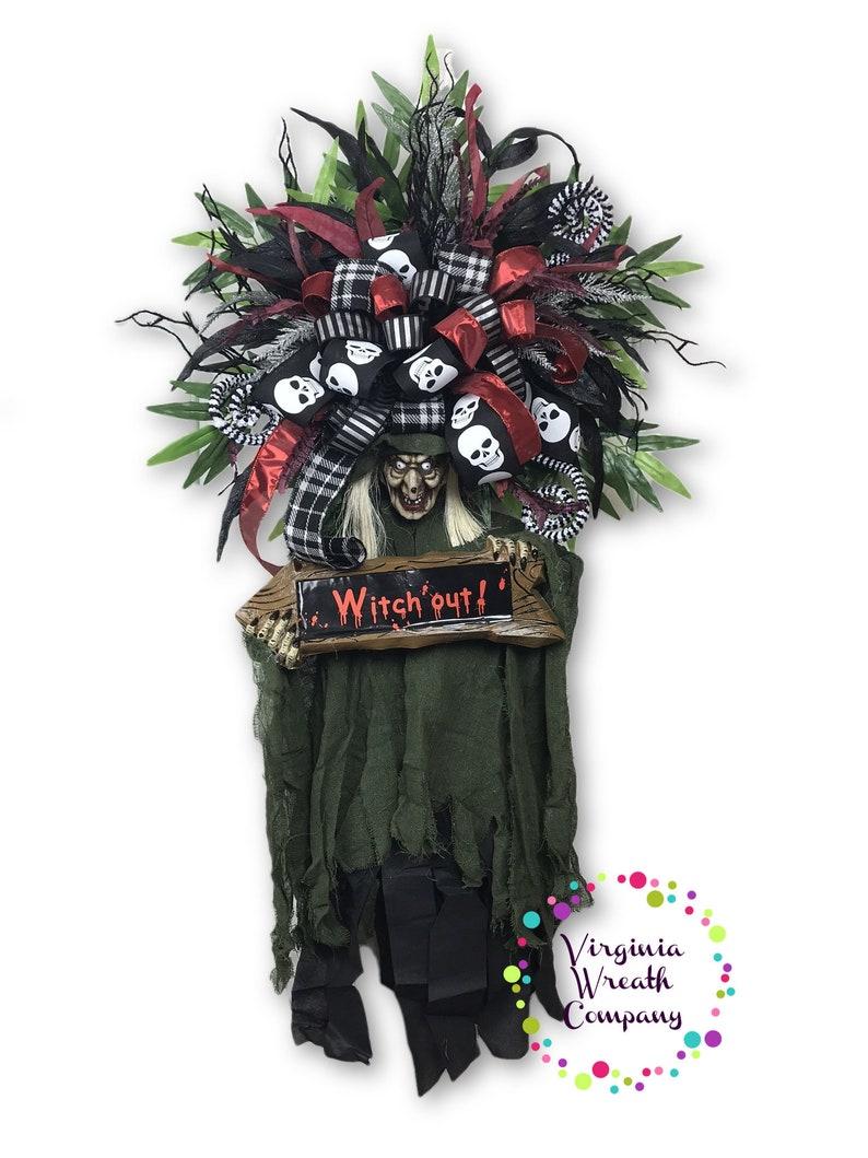 1763cb938d4c Spooky Halloween Wreath Spooky Halloween Decoration