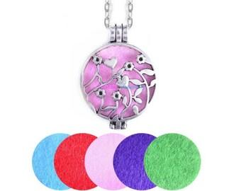 Aromatherapy locket necklaces