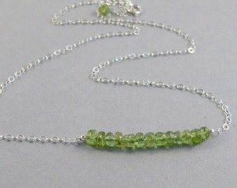 Pretty Peridot,Green Necklace,Peridot Necklace,Genuine Peridot,Necklace,Birthstone Necklace,Peridot Birthstone,Peridot Stone,SeaMaidenJewelr