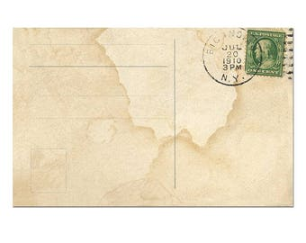 Digital Postcard Template Postcard Download Vintage Postcard Etsy