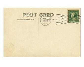 postcard back postcard template postcard download old postcard printing vintage postcard scrapbook 11 digital postcard